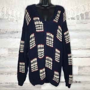 Vintage chunky knitted oversized sweater